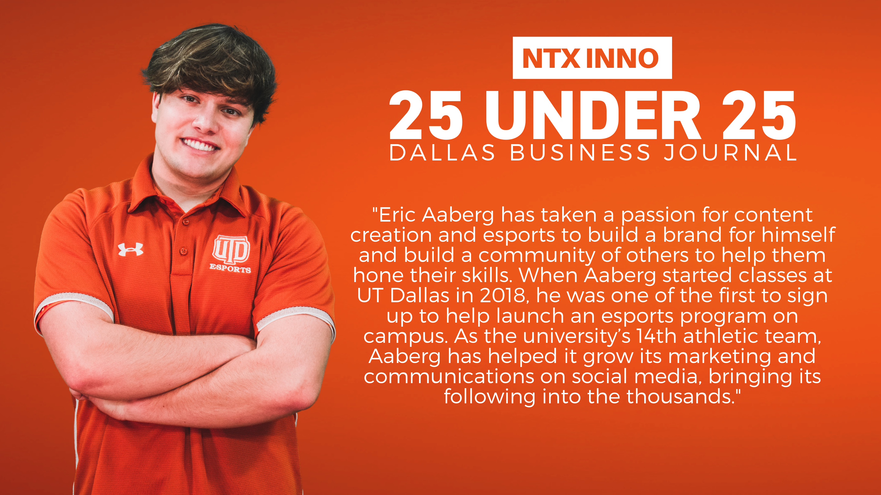 Eric Aaberg Named NTX INNO 25 Under 25